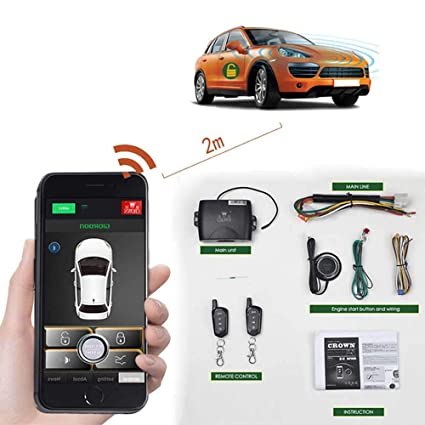 Remote Car Starter App >> Amazon Com Remote Car Starter 2 Way Automatic Car Alarm System