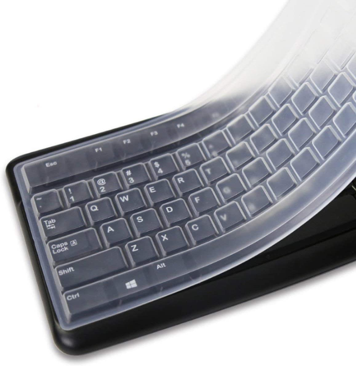 Gugutogo Portable Transparent Laptop Keyboard Anti-dust Cover Protector For Desktop Computer Silicone Protective Film