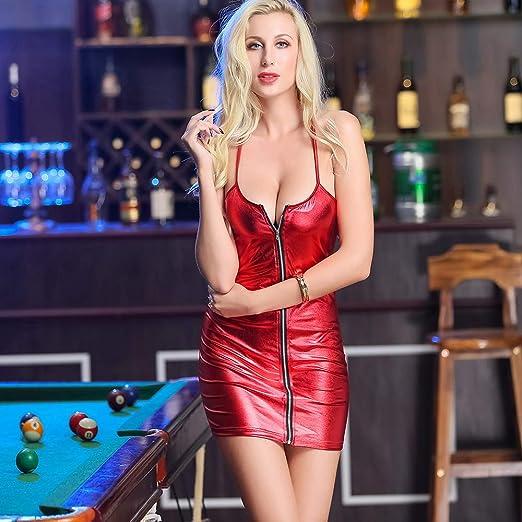 Mini Falda Atractiva, Etapa Modelo del Vestido De La Señora Siamés, Arco Rojo, Encantador, Diseño De La Cremallera, Cuero, Mismo-Cultivación Cómoda,L: Amazon.es: Deportes y aire libre