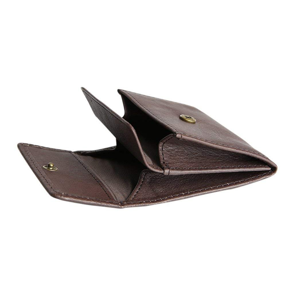 ChengYi Unisex Leather Wallet Help for Holding Coins Keys,Cards CYLQB20