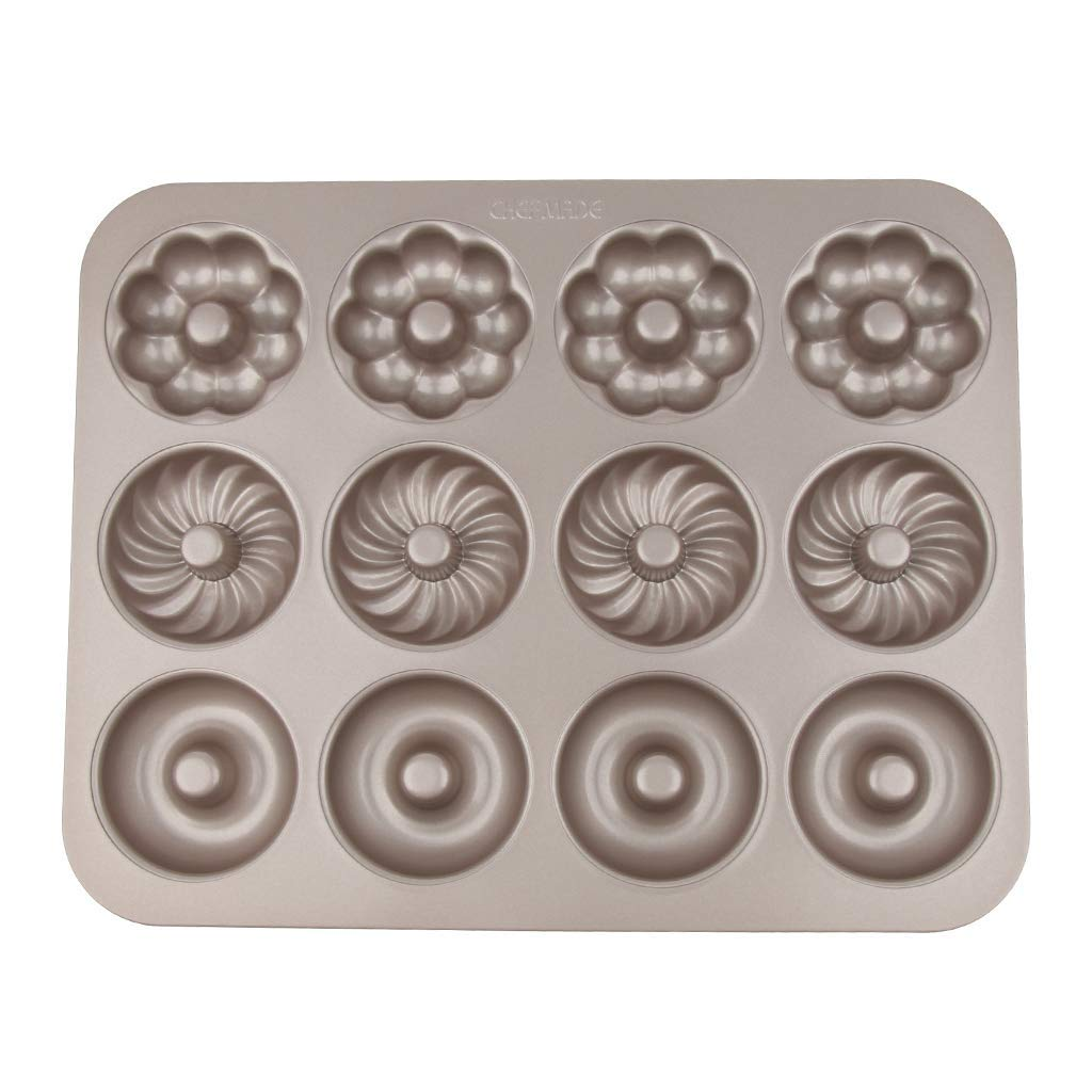 12 Holes Donut Mold Cookies Non Stick Doughnut Mould Baking Oven Tray,Flower,Pumpkin,Cake Border Decoration, Cupcake Topper, Polymer Clay, Crafting Projects