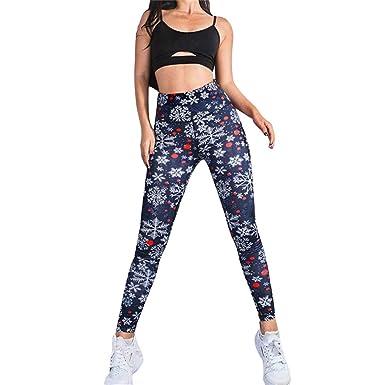 Sylar Pantalones Yoga Mujer Impresión De Navidad Pantalones De ...