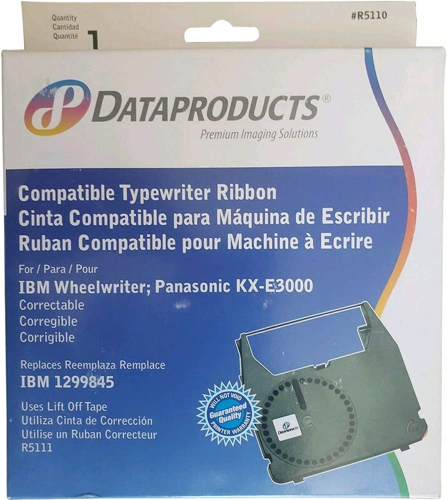 Dataproducts Products - Dataproducts - R5110 Compatible Correctable Ribbon, Black - Sold As 1 Each - for use with IBM and Panasonic typewriters. - Long-Lasting and Easy to Install. -