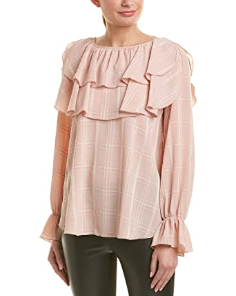 8dd6fa90cf Amazon.com: See by Chloe Womens Frilled Top, 36, Pink: Clothing