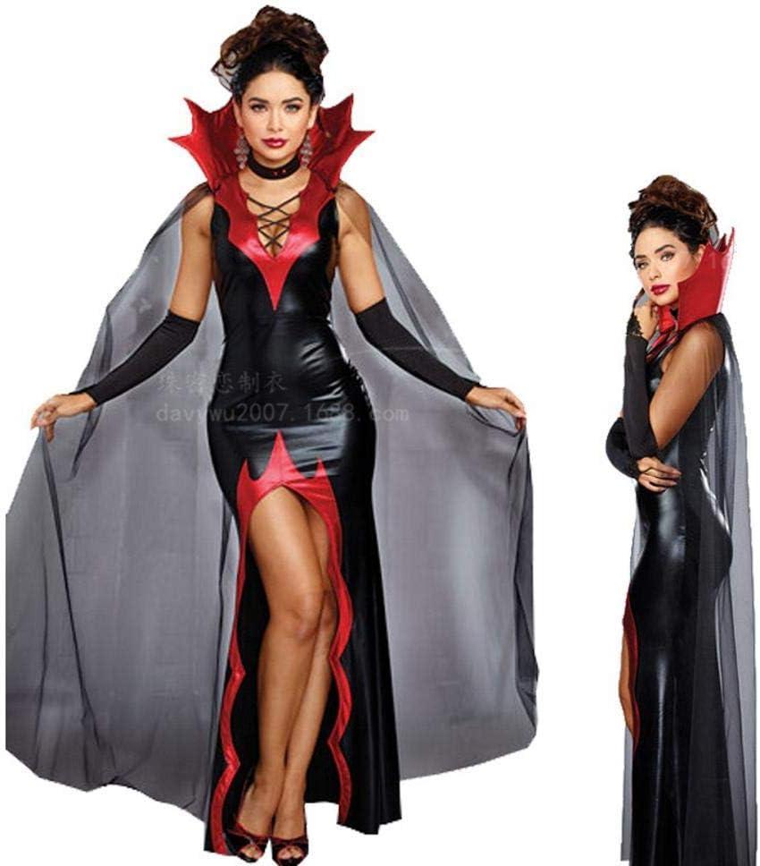 Yunfeng Halloween Bruja Disfraz para Mujer Disfraz de Diablo Negro ...