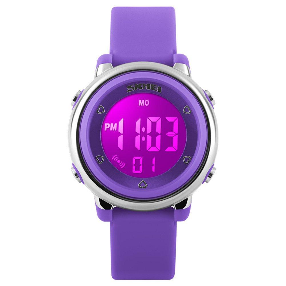 Skmei Children's LED Digital Waterproof Watch Purple