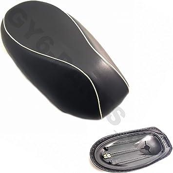 Sitzbank Sattel Für 2 4 Takt China Roller 50 2 Sitzer Schwarz Weiße Naht Z B Passend Für Roller Znen Zn50qt E5 Legend Und Baugleiche Motoworx Benzhou Yiying Auto