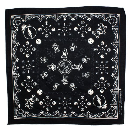 Sunshine Joy Good Ol' Grateful Dead Bandana Black