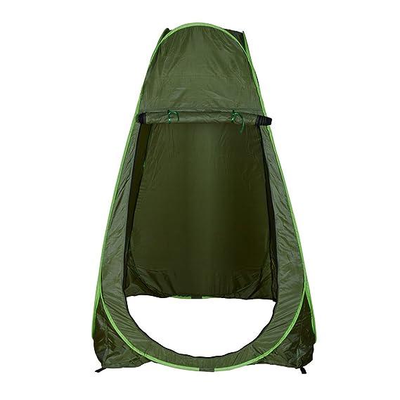 AYNEFY WC-Zelt,Duschzelt /Ändern Zelt Faltbar Pop up Duschzelt Camping Wasserfest Tragbar Outdoor WC-Zelt mit Bel/üftungsfenster und Lagerregal mit Tragetasche 120 x 120 x 190 cm