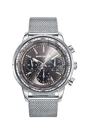 Mark Maddox Reloj Cronógrafo de Cuarzo para Hombre con Correa de Acero Inoxidable - HM7012-57: Amazon.es: Relojes
