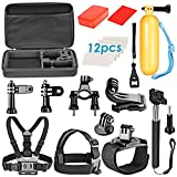 Neewer 9-in-1 Sport Accessory Kit for GoPro Hero4 Session Hero1 2 3 3+ 4 SJ4000 5000 6000 7000 Xiaomi Yi in Swimming Rowing Skiing Climbing Bike Riding Camping Diving and Other Outdoor Sports