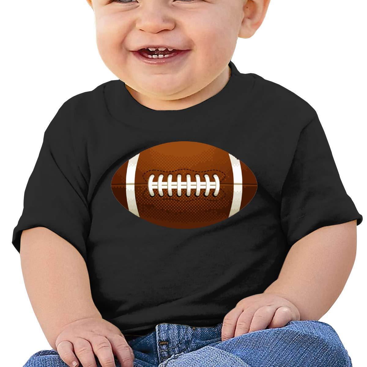American Football Ball Baby Boy Girl Newborn Short Sleeve T-Shirt 6-24 Month Soft Tops