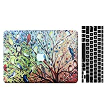 Old MacBook Pro 13'' Regular Display Case, AICOO 2-in-1 Beautiful Hard Case Cover With Keyboard Skin Protector For MacBook Pro 13.3 inch With CD-ROM (A1278), Colorful Tree