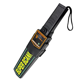 Manfore Escáner de seguridad con detector de metales de mano altamente sensible con vibración y alerta