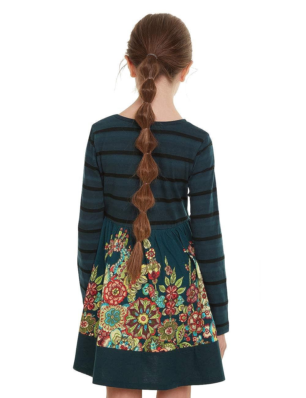 Desigual M/ädchen Dress Physalis Kleid