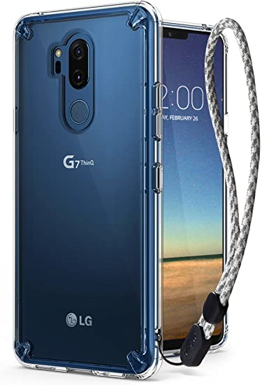 sale retailer 1bdd9 e5fde Ringke [Fusion] Compatible with LG G7, G7 ThinQ Case Crystal Clear PC Back  [Anti-Cling Dot Matrix Technology] Lightweight Transparent TPU Bumper Drop  ...
