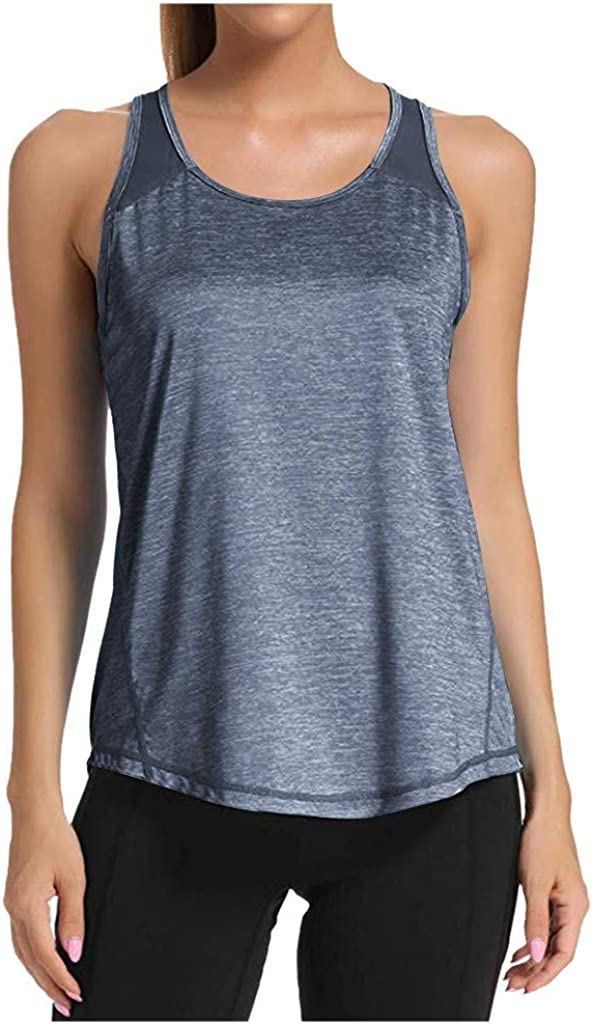 ANOKA Workout Tank Tops for Women Loose fit Activewear Running Yoga Tops