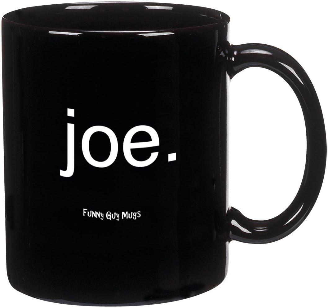Funny Guy Mugs Joe. Ceramic Coffee Mug, Black, 11-Ounce