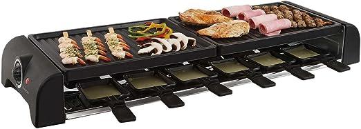 Gran mesa de raclette parrilla parrilla eléctrica para 12 personas ...