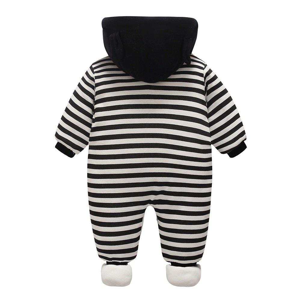 S/äugling Neugeboren Baby Jungen M/ädchen Cartoon Hooded Spielanzug Jumpsuit Kleidung Outfit Herbst Winter Kleidung