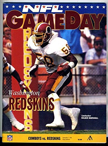 Dallas Cowboys v Washington Redskins NFL Gameday Program 1992 57500fab8