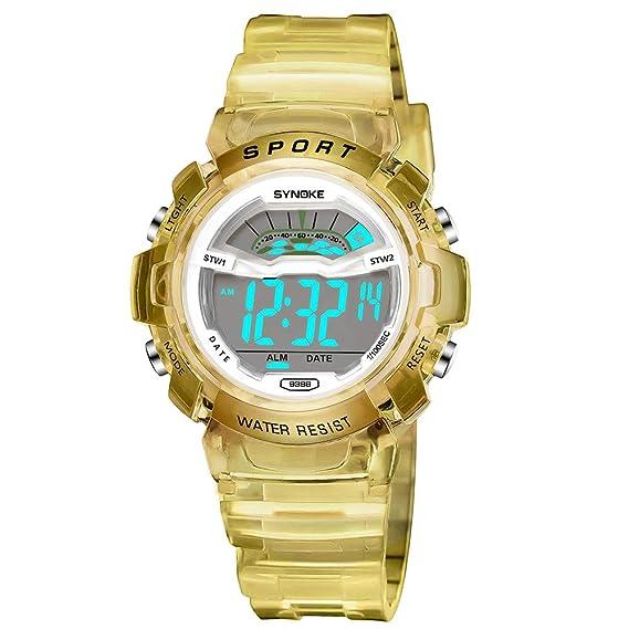Bestow Reloj Deportivo LED Reloj de Fecha Reloj Digital Impermeable  Luminoso Impermeable para Ni os a0bd6d6789a1