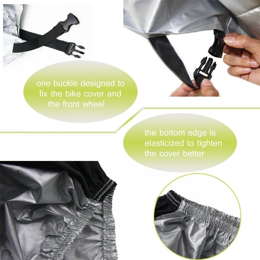 Cubierta Impermeable para Bicicleta Protecci/ón contra Todas Las Condiciones clim/áticas para Bicicletas de monta/ña y de Carreras Material Resistente al Agua y a los Rayos UV WOTOW