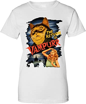 BakoIsland The Return of Vampurr Funny Retro Vintage Poster Camiseta de Mujer: Amazon.es: Ropa y accesorios