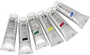 Winsor & Newton Designers' Gouache Primary Color 6-Tube Paint Set, 14ml
