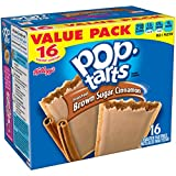 Pop-Tarts, Frosted Brown Sugar Cinnamon, 16-Count Tarts 28.2OZ (Pack of 8)