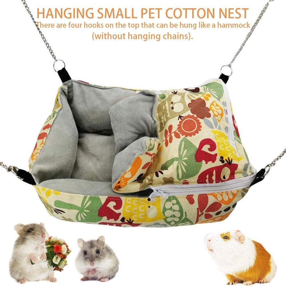 learnarmy Hamster Nido de algodón, Hamaca para hámster, hurón, Conejo, Animales, Cama Nido de algodón para Dormir, Cama para Mascotas, colchoneta para Cama Ideal para Gatos/Perros como Regalo: Amazon.es: Productos para mascotas