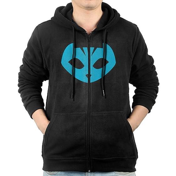 Fashion Hoodies For Mens PJ Masks Owlette Crest Sweatshirts Zip-Up