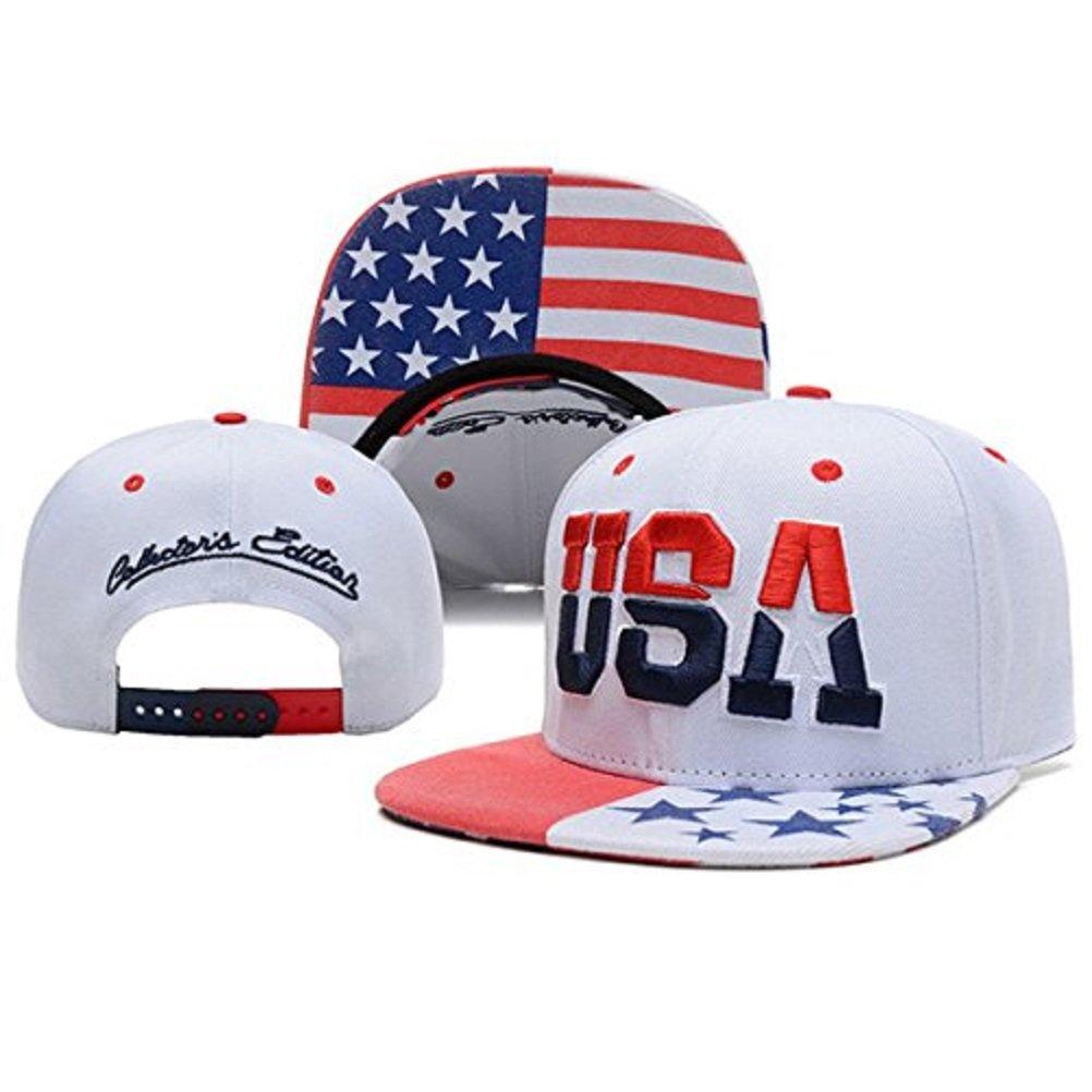 1f054551201f5 Generic 2014 USA American Flag Snapback Cap Adjustable United States  Baseball Cap Hat New