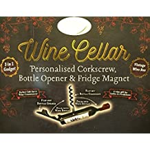 The Wine Cellar Bottle Opener/Corkscrew NAMES (D) & Fridge Magnet Diane