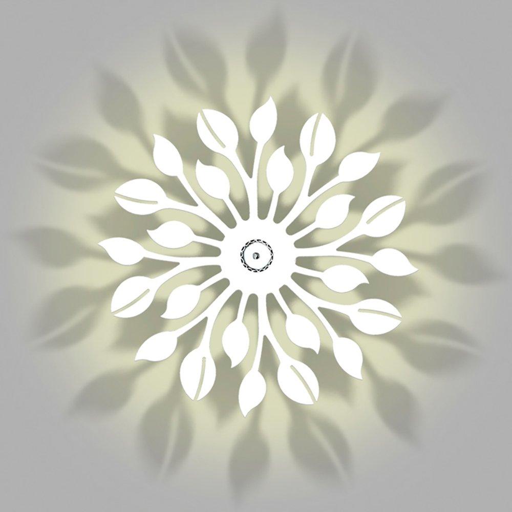 Wandleuchten Wandleuchte/Eisen / Kreative Aushöhlen Schatten Lampe/Schlafzimmer Nachttisch Kinderzimmer Dekoration Wandleuchten Warmes Licht (45 cm * 45 cm) (2 Farben erhältlich) Scheinwerfer