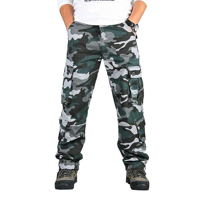 Amazon.com: Zeetoo - Pantalones de trabajo para hombre de ...