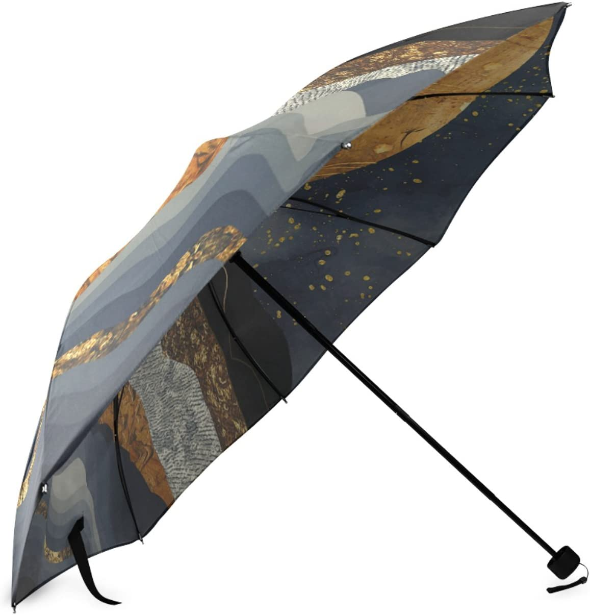 Beautytool Personalized Metallic Mountains Foldable Sun Rain Anti-Uv Umbrella