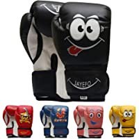 Jayefo Kids Boxing Gloves, Boxing Gloves for Kids} Sizes 4-6 OZ for Ages 5-11 Training MMA Boys Girls {Punching Bag…