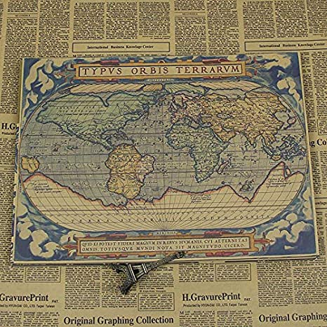 Navigation World Map.Amazon Com Mink Monk Ancient Nostalgic Map Navigation World Maps