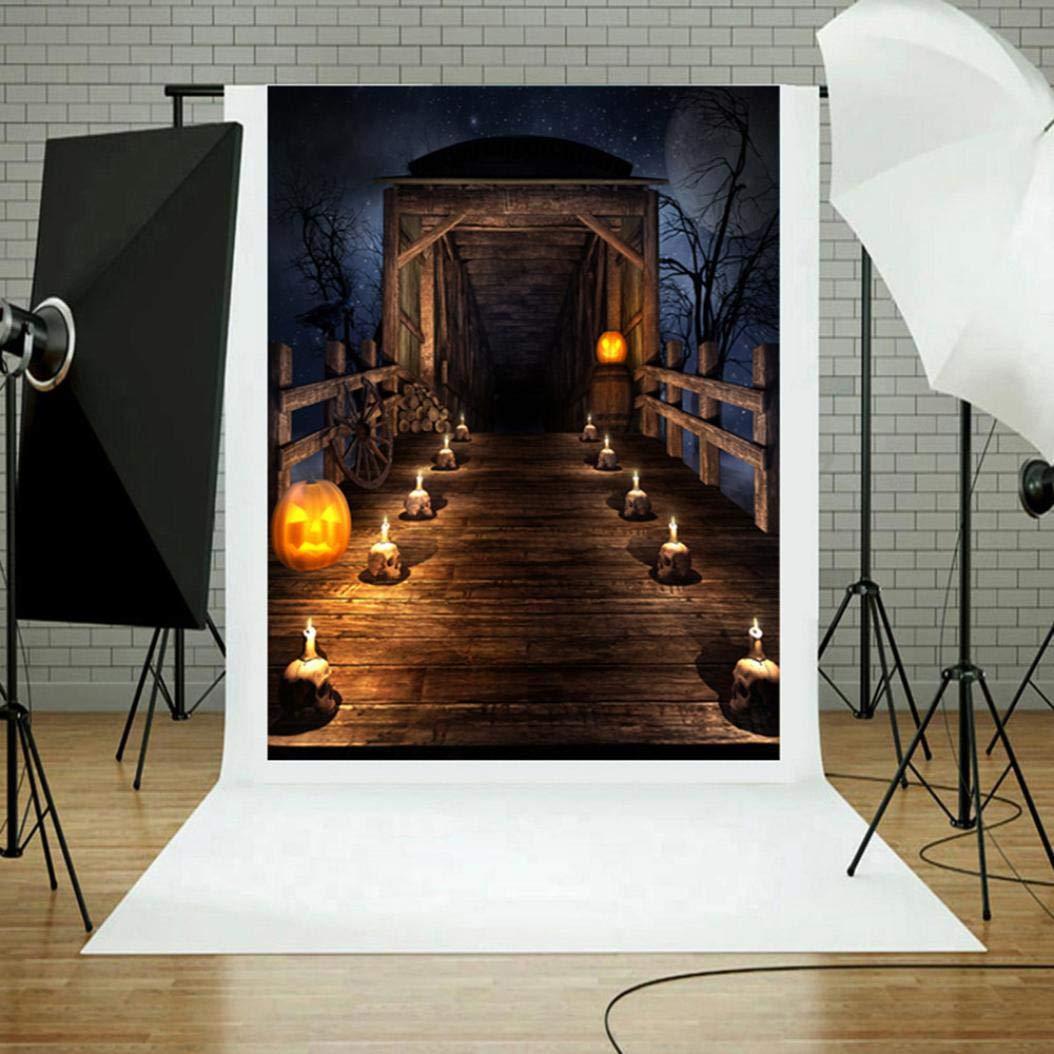 TAOtTAO - Farol de Vinilo de Calabaza para Halloween, Fondo de fotografía, S, 150 * 90cm: Amazon.es: Hogar