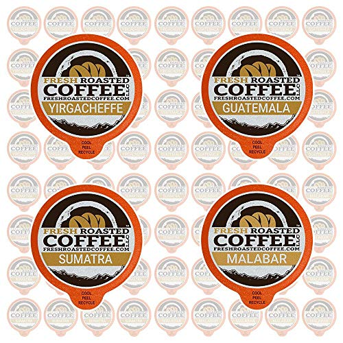 Wood Roasted Coffee - Fresh Roasted Coffee LLC, Traveler Coffee Variety Pack, Compatible with 1.0 / 2.0 Single-Serve Brewers, 72 Count