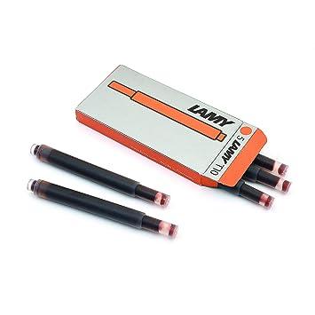 10 x LAMY Tintenpatronen T10 je 5 Stück in schwarz für € 18,80 Versandfrei