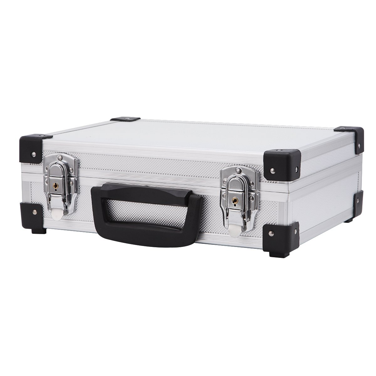 Professional Aluminum Hard Hand Gun Cases Office File Briefcase Outdoor Travel Flight Cases Home Tool Boxes with Quick Locks by ALUBOX (Image #5)