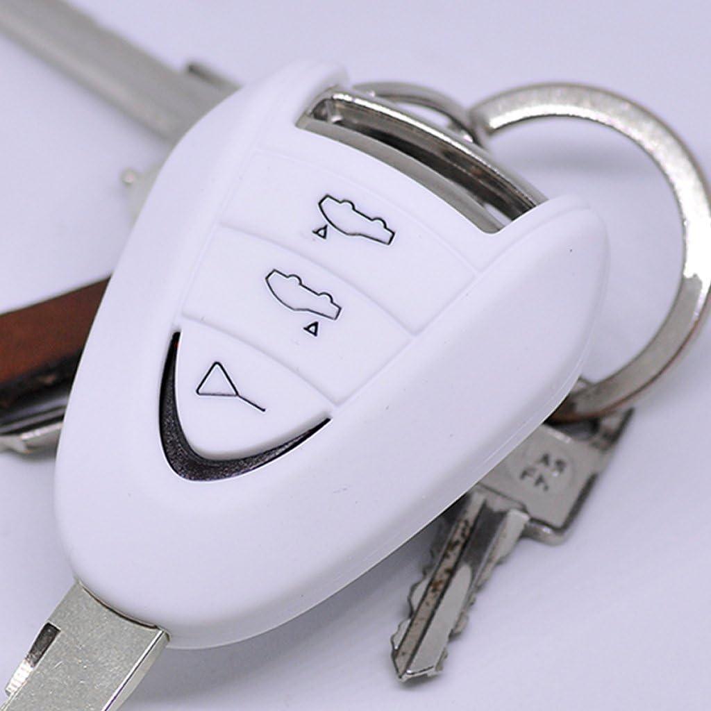 Soft Case Schutz Hülle Auto Schlüssel Kompatibel Mit Porsche 911 997 987 Boxster Cayman Funkschlüssel Remote