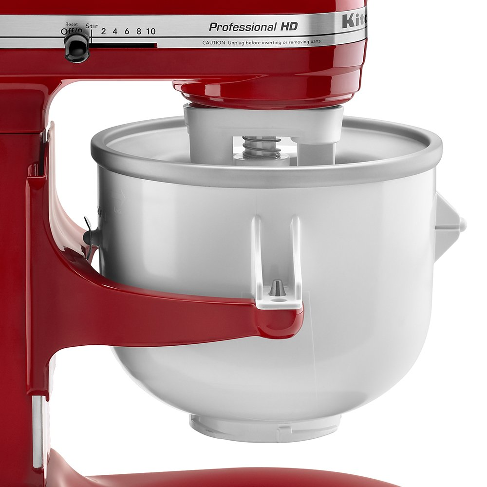 KitchenAid KICA0WH 2 Quart Ice Cream Maker Stand Mixer Attachment