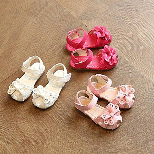 Huhu833 Babyschuhe, Kinder Mädchen Floral Bowknot Sandalen Sneaker Lace Princess Casual Einzelne Schuhe Hot Pink