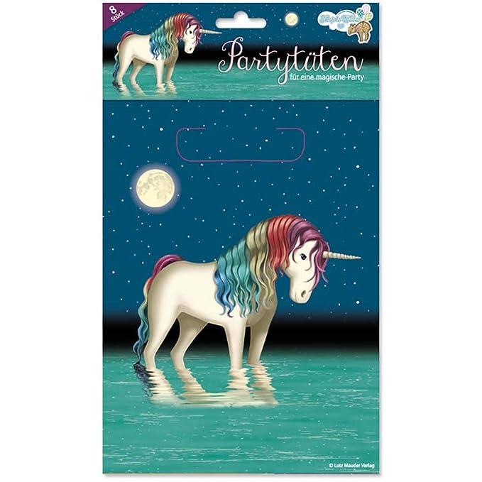 8 bolsas de fiesta * Luna Belle Unicornio * para fiestas y ...