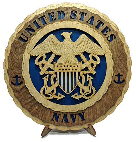 - Navy Decorative Custom Laser Three Dimensional Wooden Wall Plaque - Armed Forces