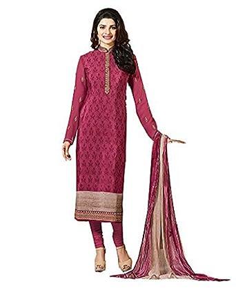 58b3efc48 Ready Made Pink Royal Crepe Embroidered Indian Pakistani Churidar ...