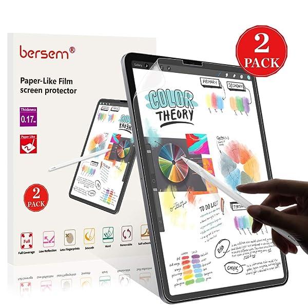 Paper-Like iPad Pro 12.9 Screen Protector (2018), BERSEM Paperlike iPad pro 12.9 Matte PET Film for Drawing Anti-Glare and Paper Texture iPad Pro 12.9 Screen Protector (2 Pack) Easy Installation Kit (Color: 12.9 inch 3rd Gen, Tamaño: 12.9 inch 3rd Gen)